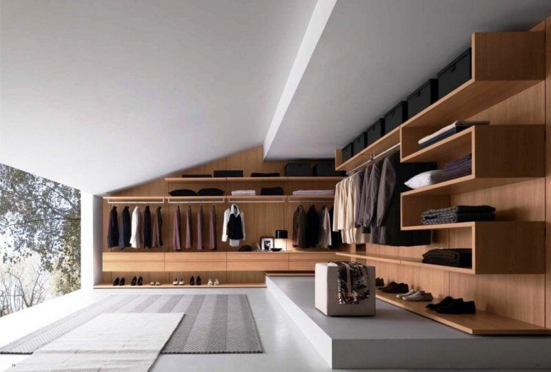 offene kleiderschrank regalsysteme planen komfort design ideen