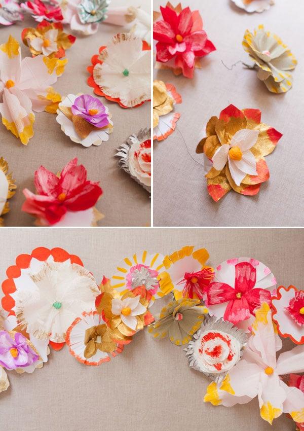 Origami Blumen als Dekoration