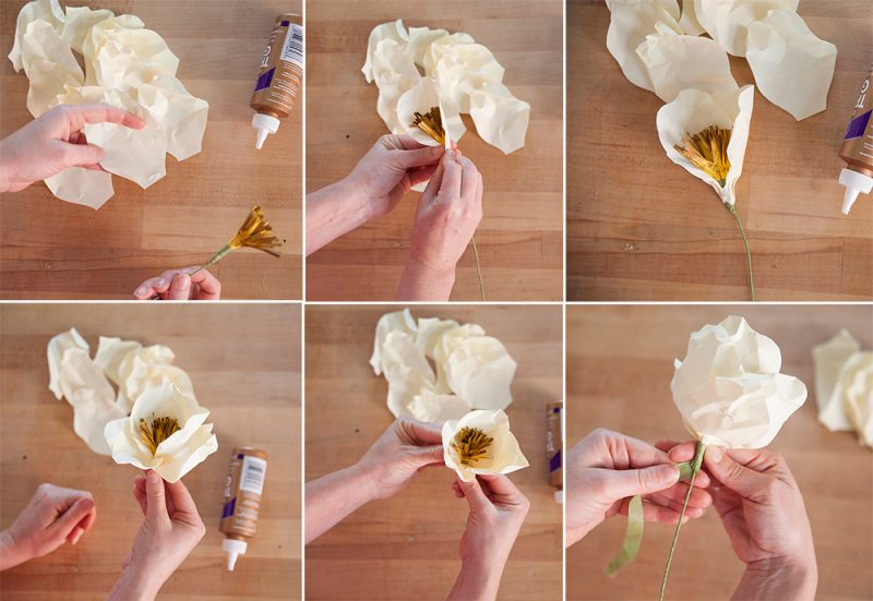 Origami Blumen Anleitung