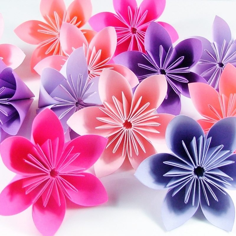 Fleurogami Blüte Origami Anleitung