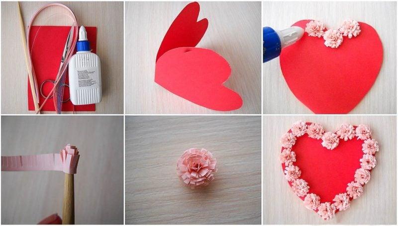 Origami Blume basteln: Kreative Idee zum Valentinstag