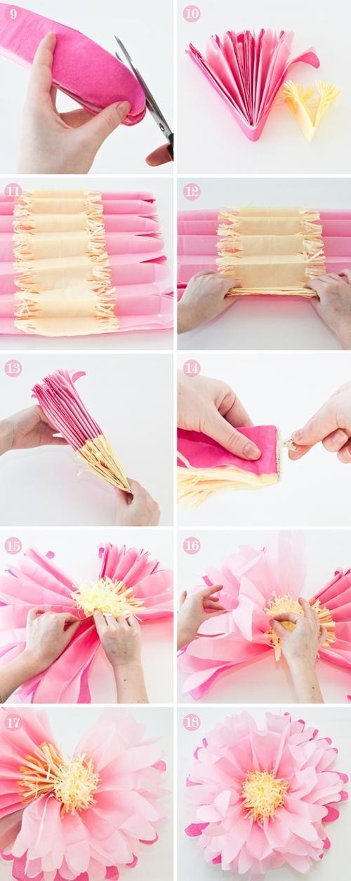 Origami Blumen basteln Anleitung