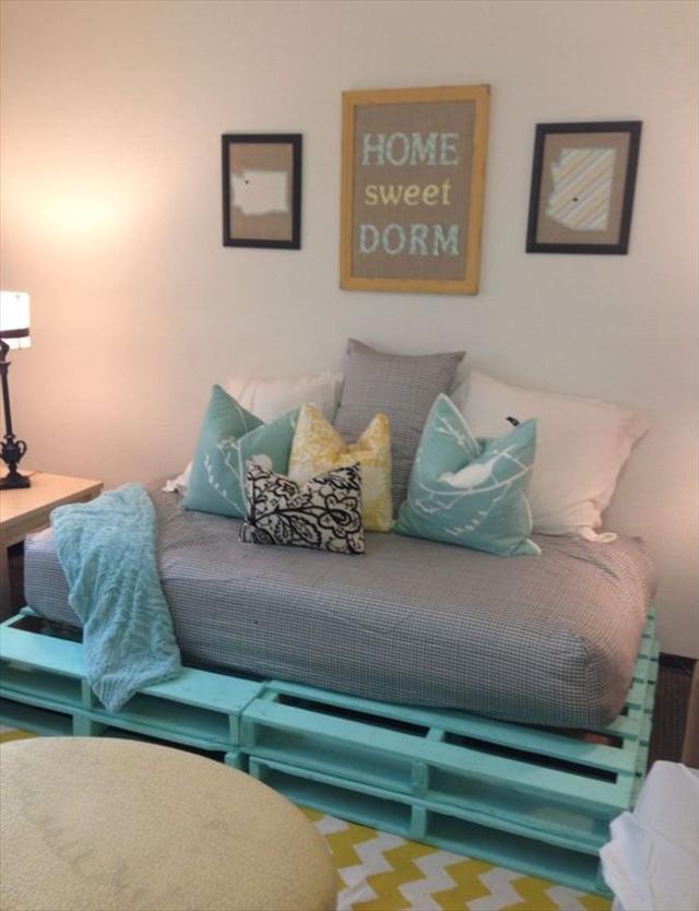 palettenbett selber bauen möbel aus paletten
