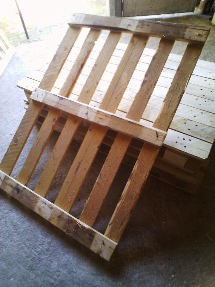palettenmöbel bank aus paletten selber bauen schritt 2