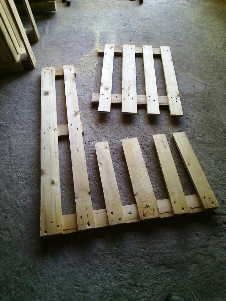 palettenmöbel bank aus paletten selber bauen schritt 3