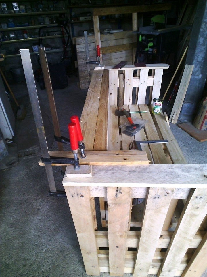 palettenmöbel bank aus paletten selber bauen schritt 7