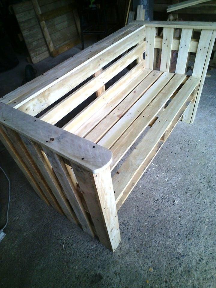 palettenmöbel bank aus paletten selber bauen schritt 8