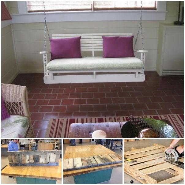 palettenmöbel schaukel aus paletten weiß möbel aus paletten selber bauen