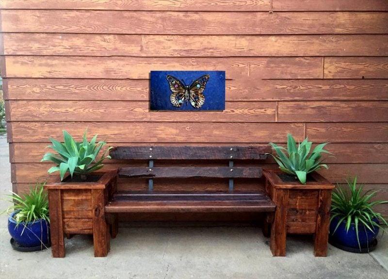 palettenmöbel selbe rbauen diy bank aus paletten braun
