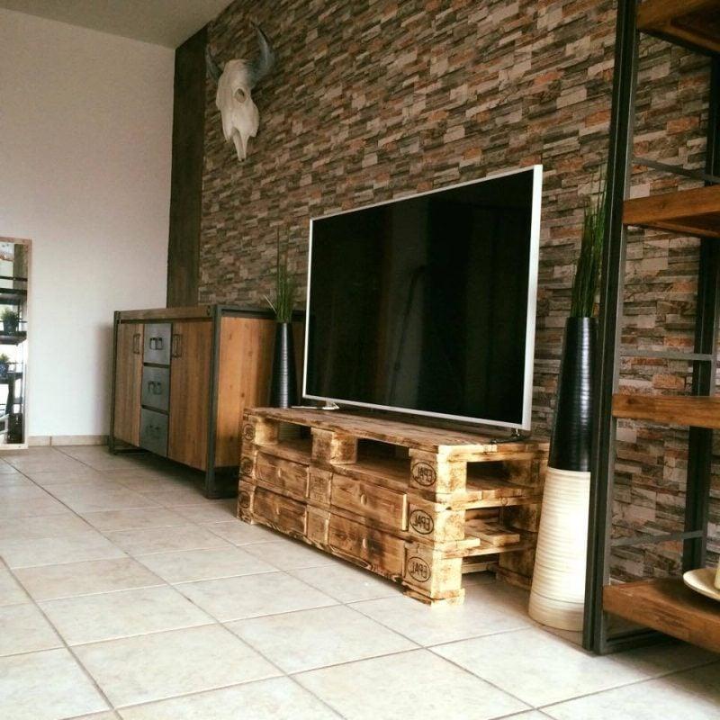 palettenmöbel selber bauen tv tisch hi fi gerät möbel aus paletten