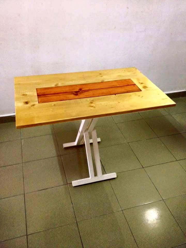 palettenmöbel tisch aus paletten selber bauen