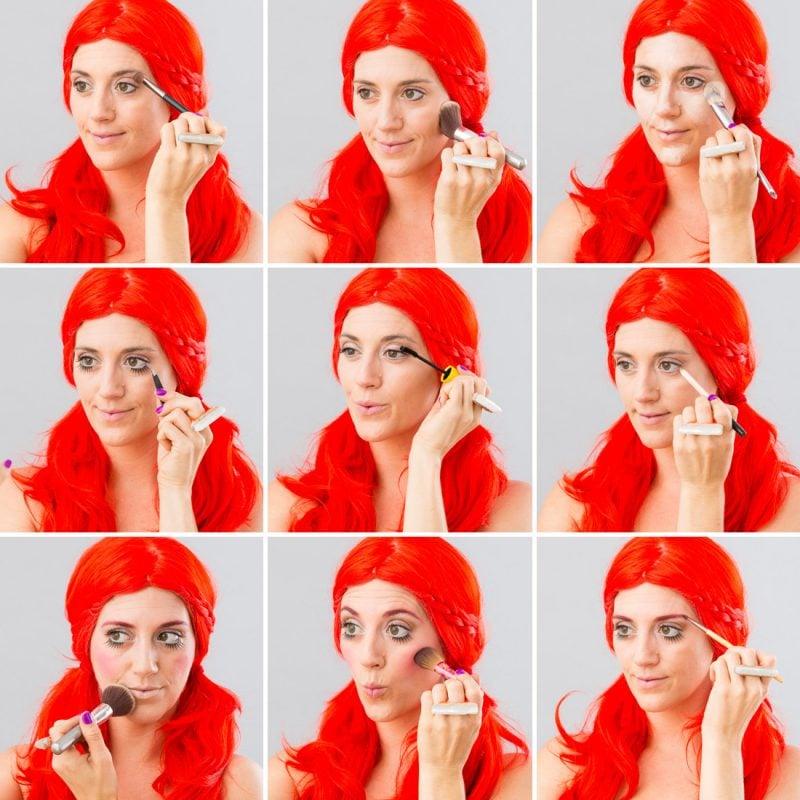 So einfach gelingen die Pippi Langstrumpf Zöpfe: Make up ANleitung