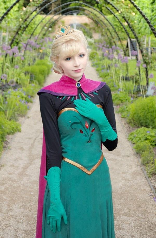prinzessin kostüm coole accessoires kleid haar frisur fasching verkleidung ideen karneval kostüm ideen
