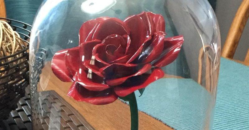 Rose basteln - ein besonderes Geschenk, die jahrelang hält - So geht`s: