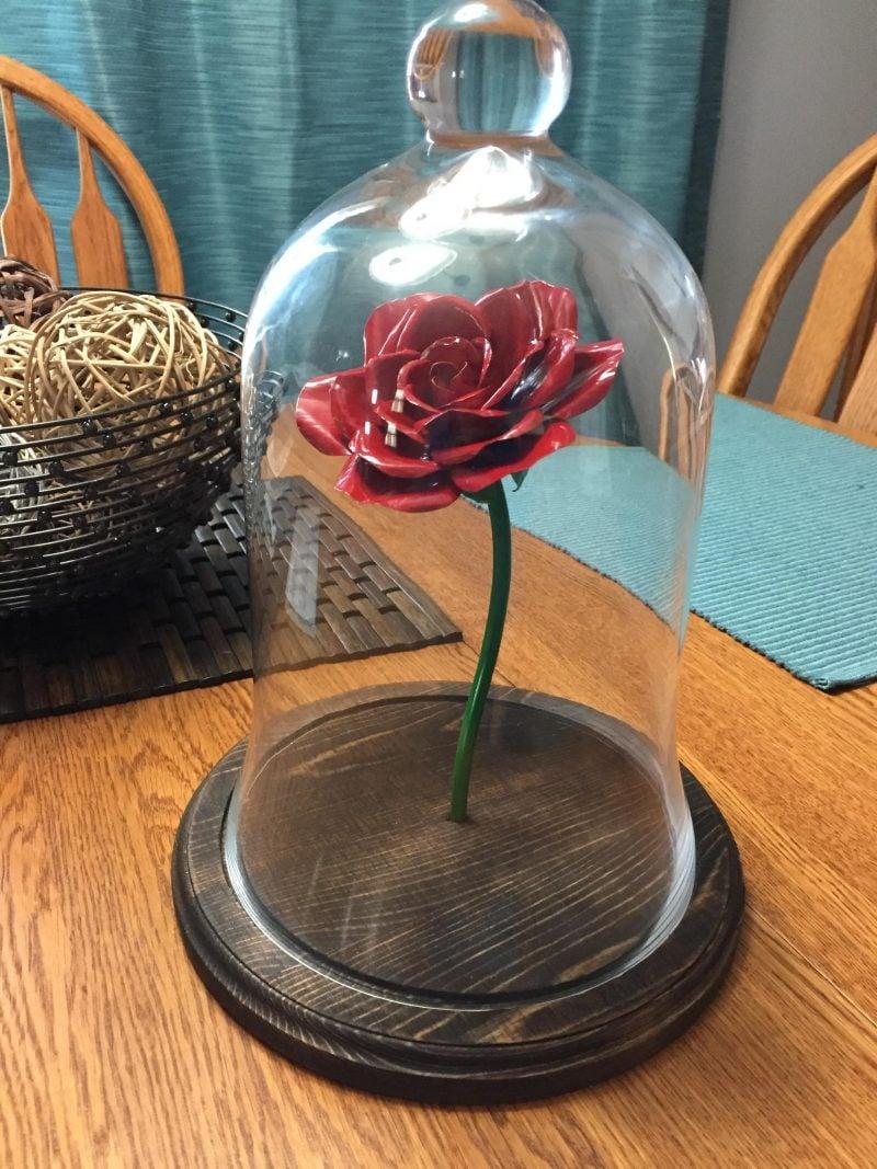 Verzauberte Rose basteln: Anleitung