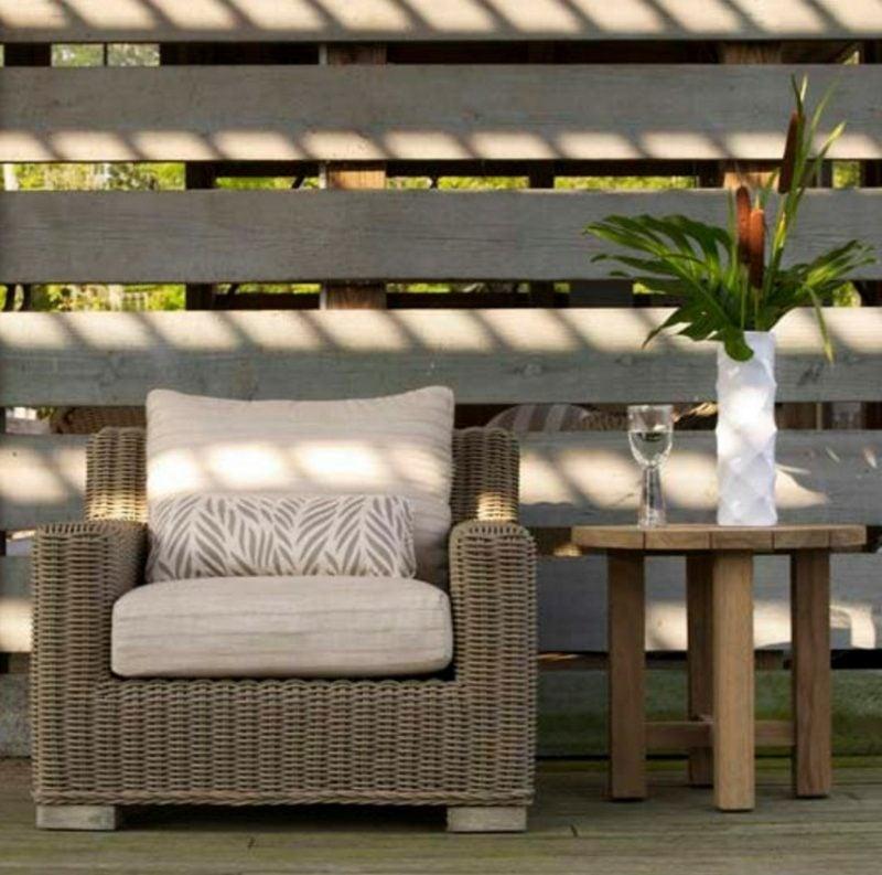 rustikale gartenmö6bel holz sofa vorteile gartengestaltung ideen
