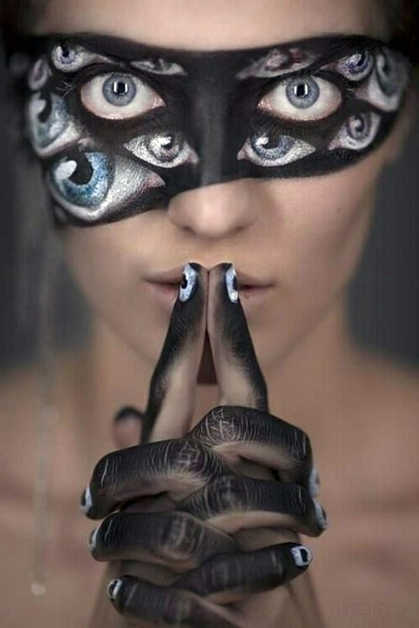 schminken coole accessoires maske schwarz fasching verkleidung
