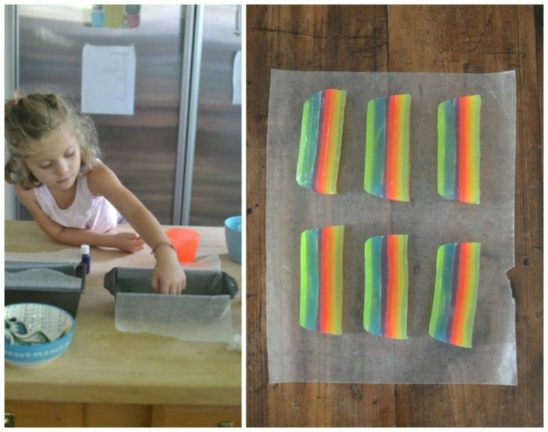 DIY Ideen Seife in den Regenbogenfarben