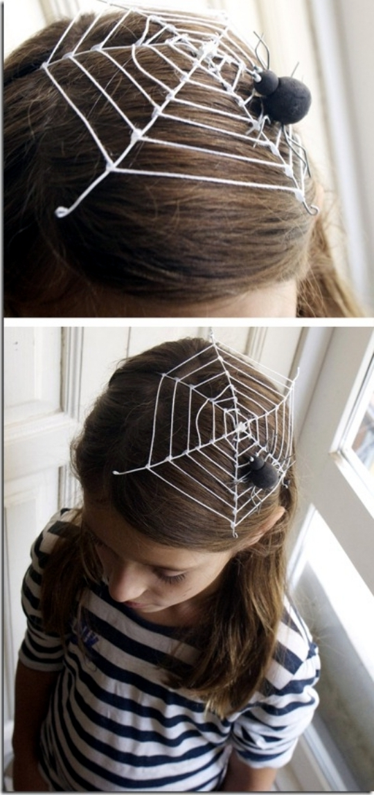 spinnennetz karneval kostüm coole accessoires halloween ideen