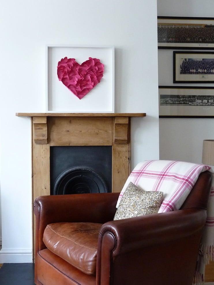 Herz-Bilder bei der Wandgestaltung!
