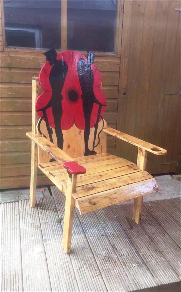 M bel aus paletten 105 fantastische ideen zum nachbauen - Stuhl aus paletten ...