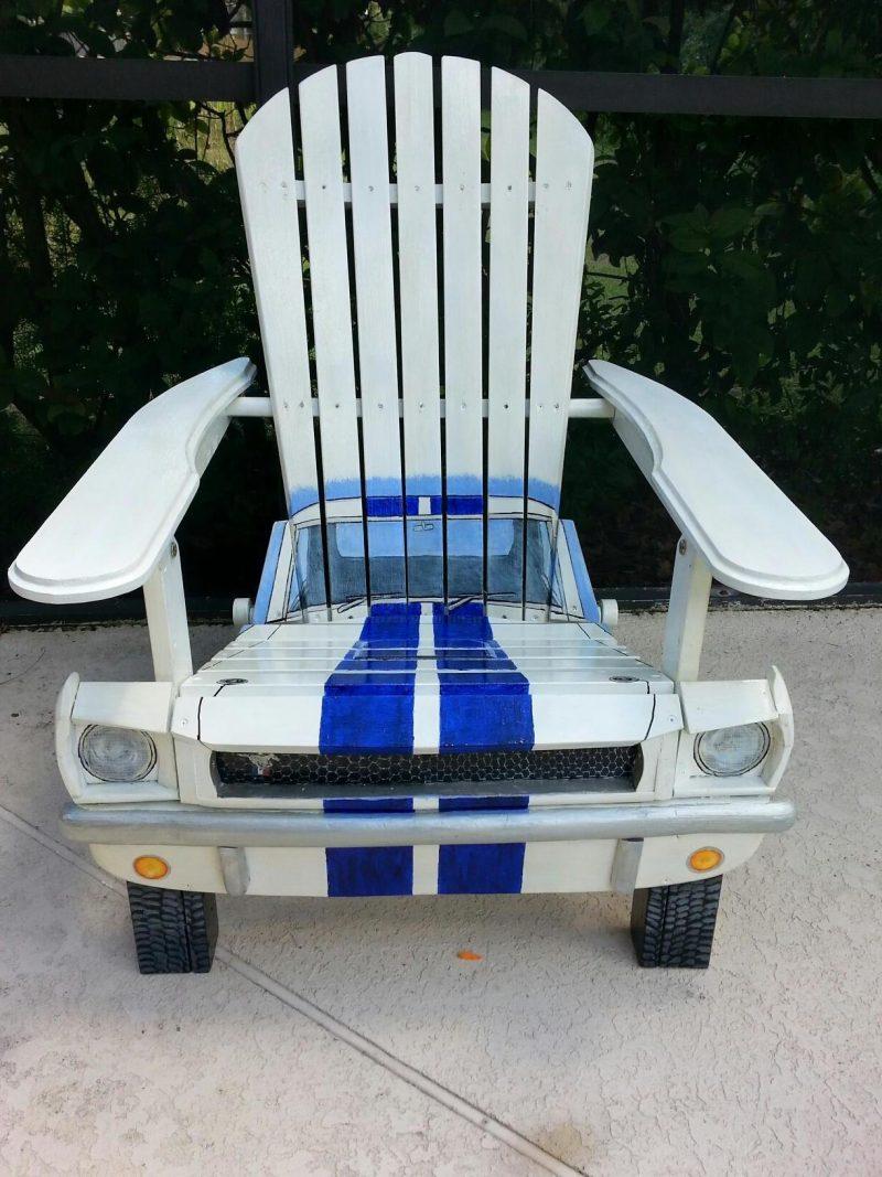 Faszinierender Stuhl aus Autoteilen!