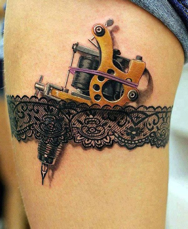 tattoo ideen frauen bein oberschenkel tattoos frauen