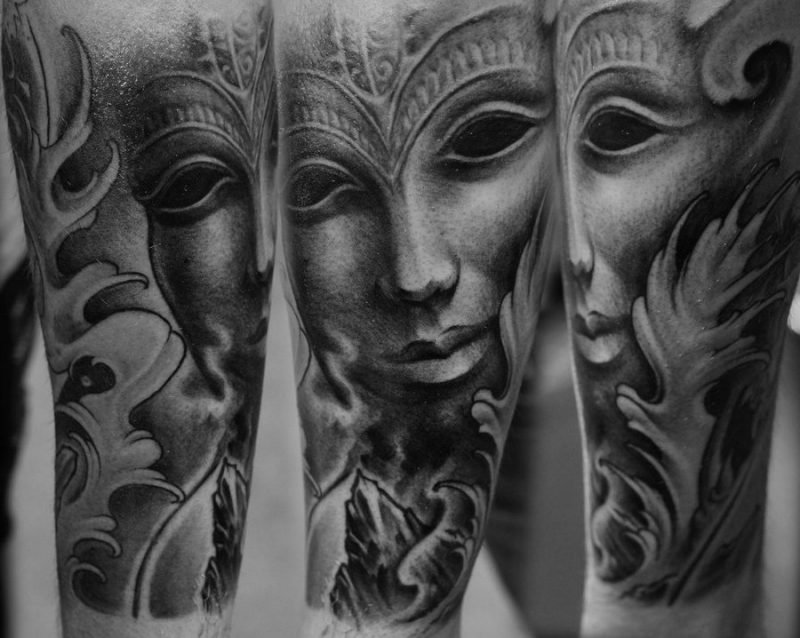 tattoo ideen kopf augen porträt tattoos männer