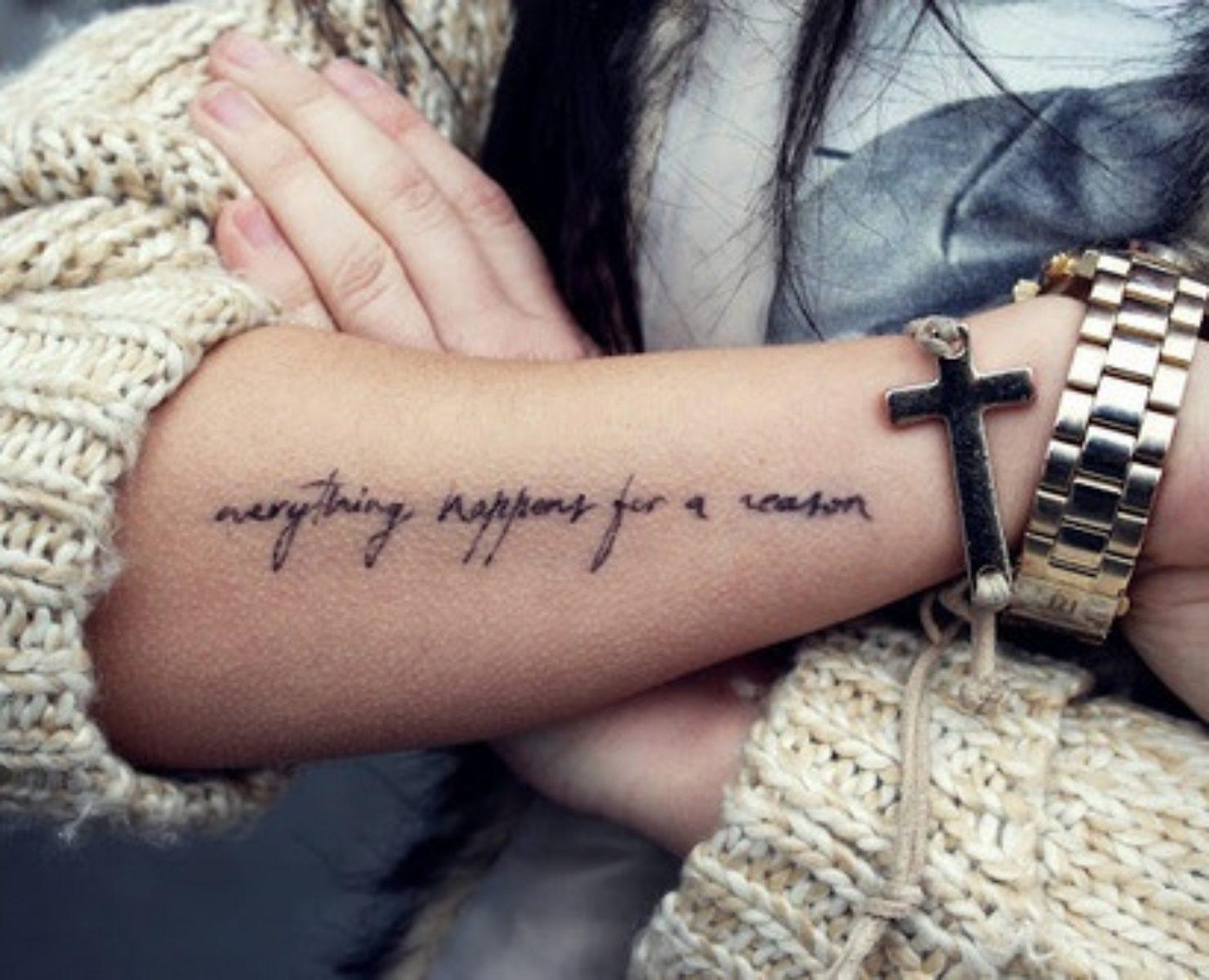 Sprüche arm tattoo männer ▷ Armband