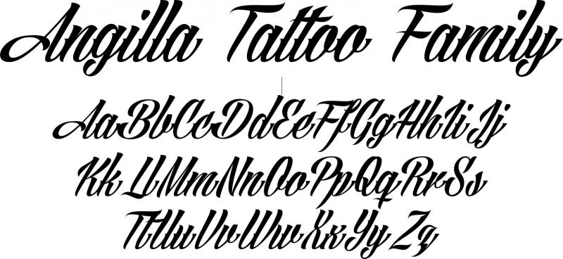 Kostenlose Tattoo Vorlage für Tattoo Schriftzüge - Tattoo Fonts