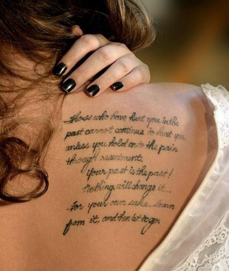 Schriftzug Tattoo Ideen