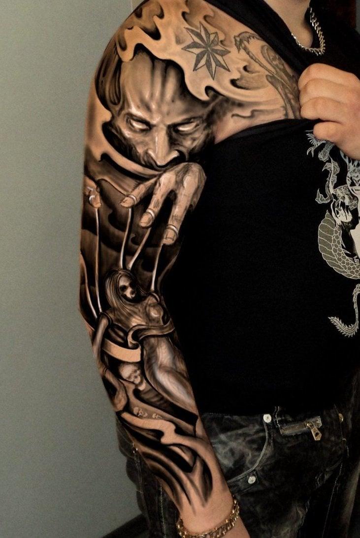Gambling Tattoo Designs Sleeve