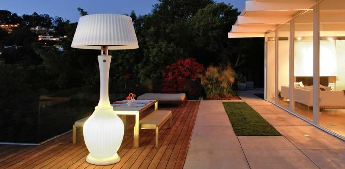 terrassenheizung luxus weiß terrassenheizer ideen design