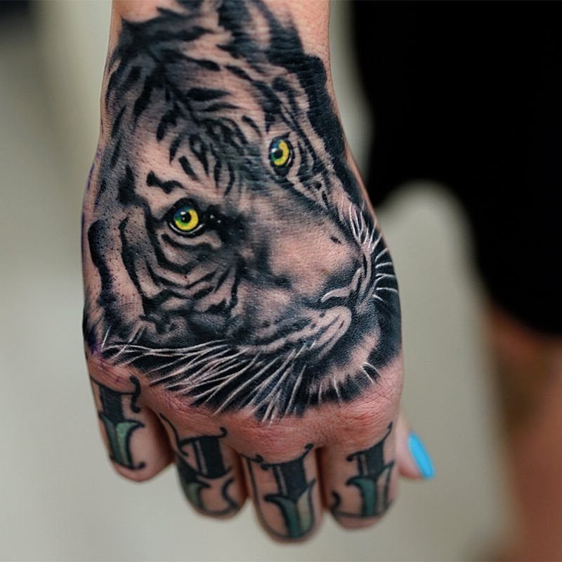tiger tattoo ideen hand tattoos frauen tattoos männer