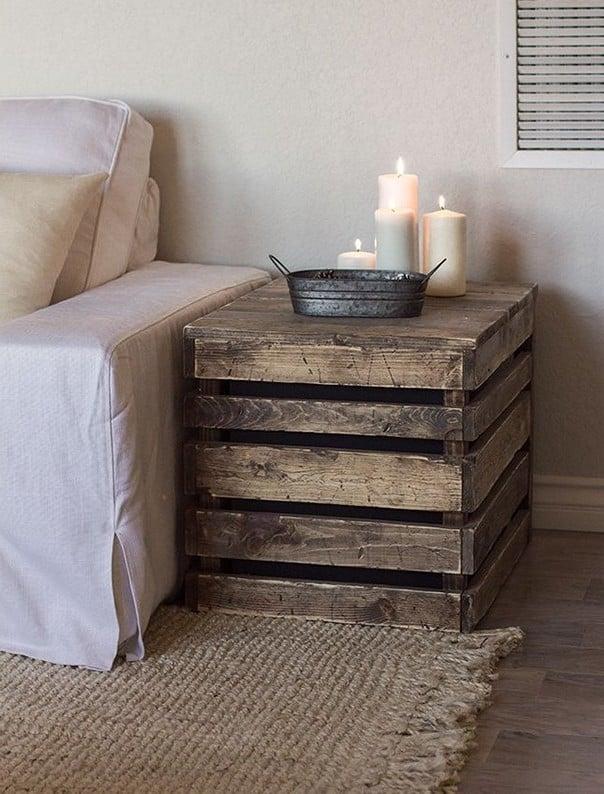 tisch aus paletten palettenmöbel selber bauen