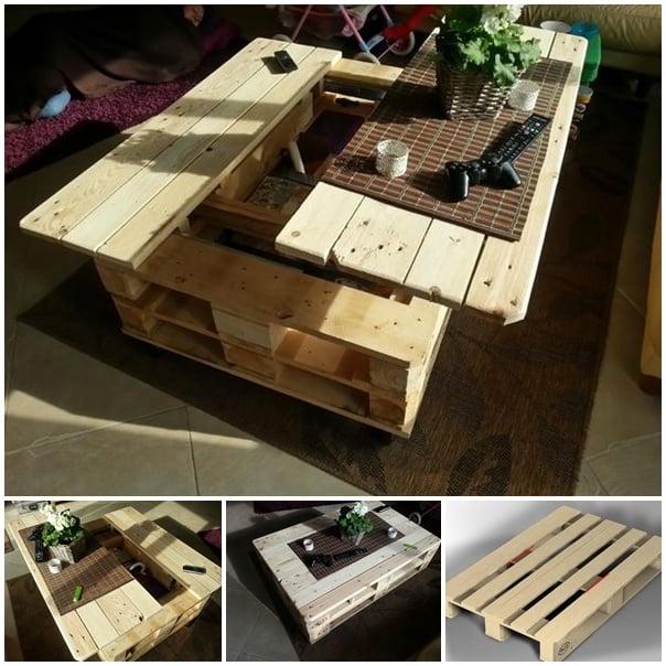 tisch aus paletten selber bauen bastelideen palettenmöbel möbel aus paletten