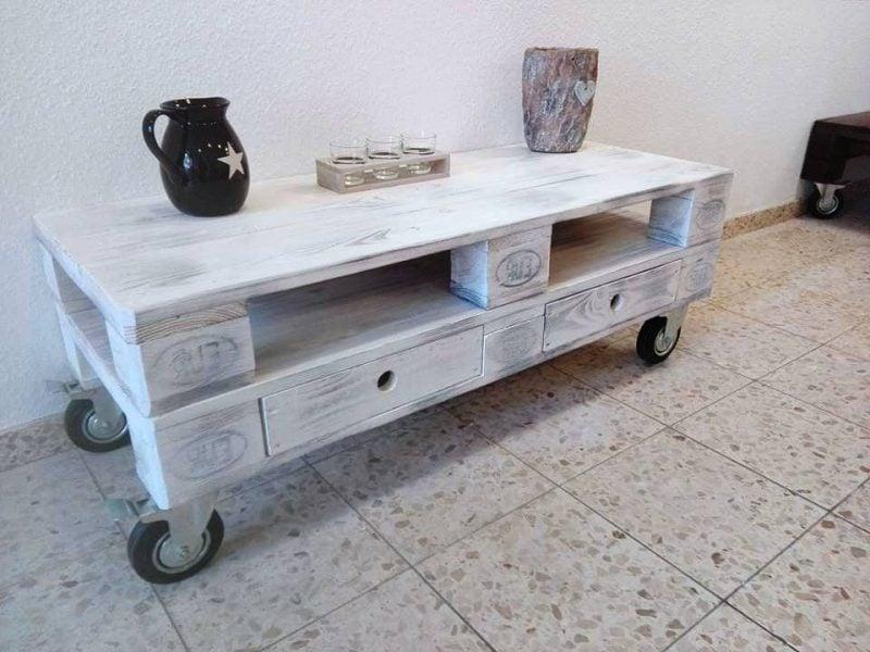 tisch aus paletten selber bauen weiß palettenmöbel