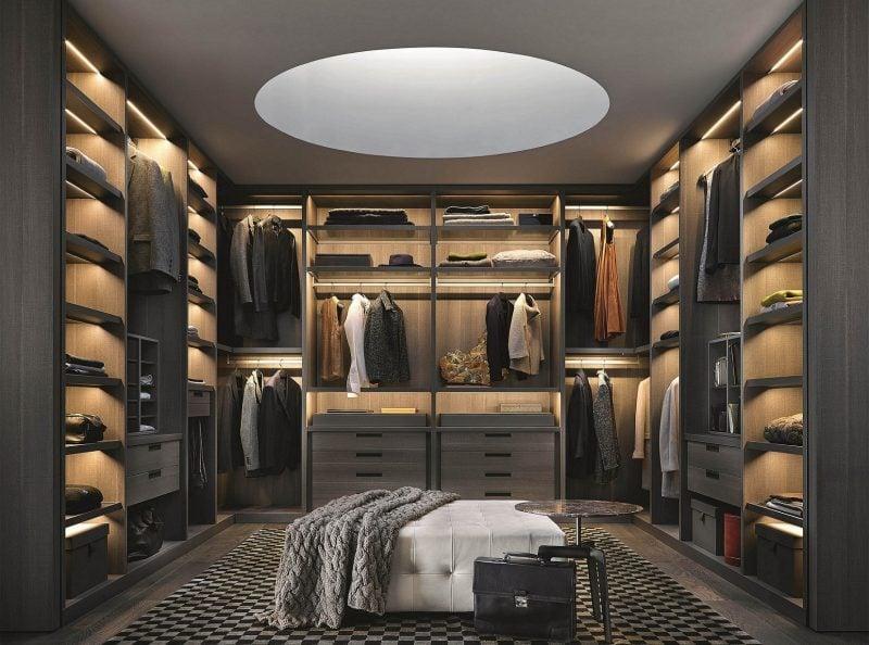 top ideen begehbarer kleiderschrank männer walk in garderobe