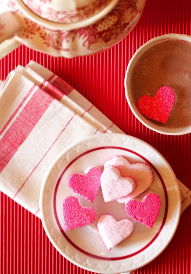 Warum nicht etwas Süßes zum Valentinstag? Valentinstag 2016 Donuts