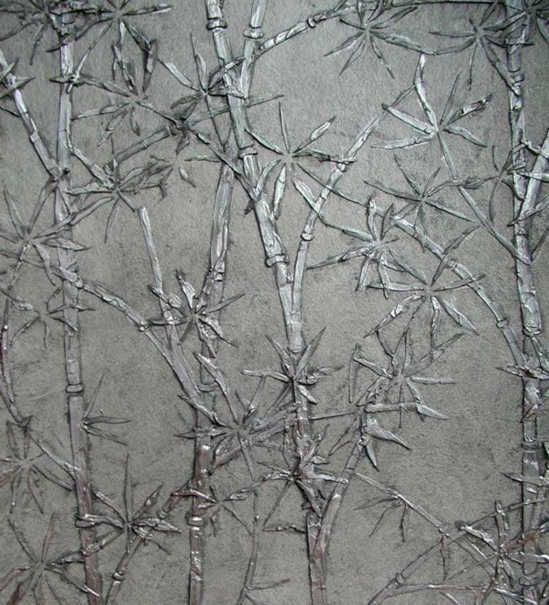 Dekorputz Pflanzenmuster Silber origineller Look