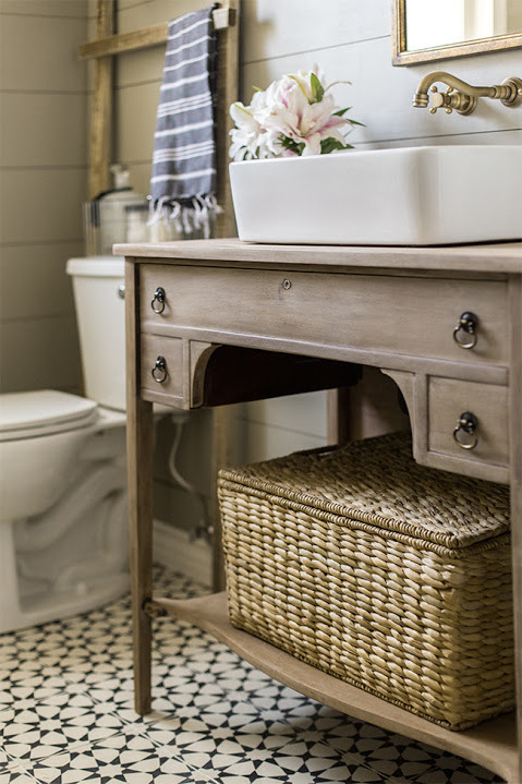 vintage büfett badezimmer ideen bad ideen