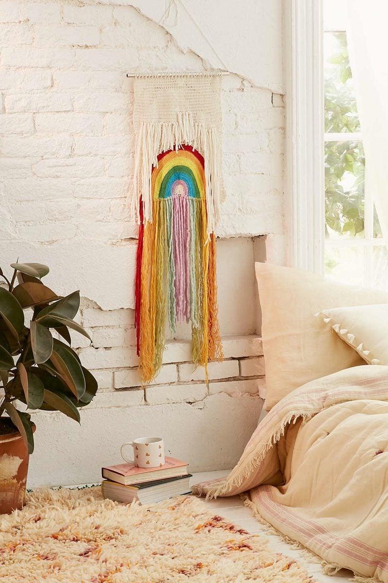 wandgestaltung deko ideen diy deko schlafzimmer stilvoll dekorieren wandteppich