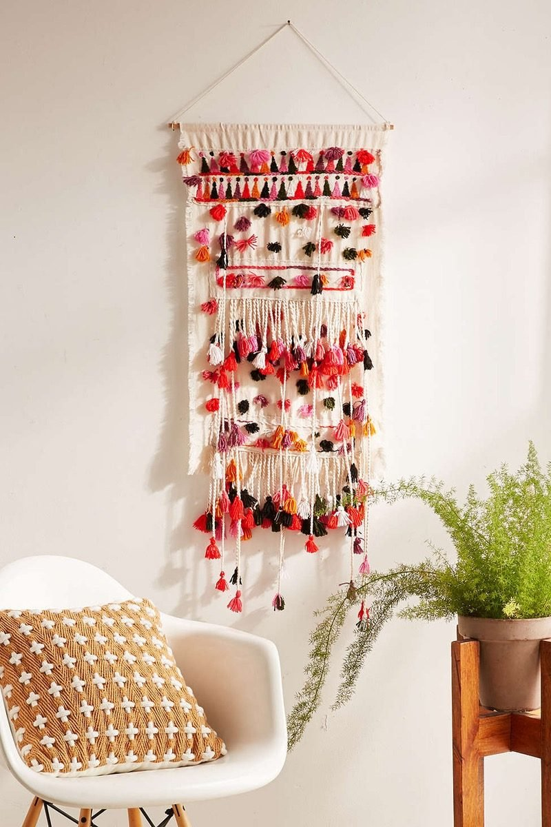 wandgestaltung wandteppich diy deko wohnung dekorieren kreative dekoideen
