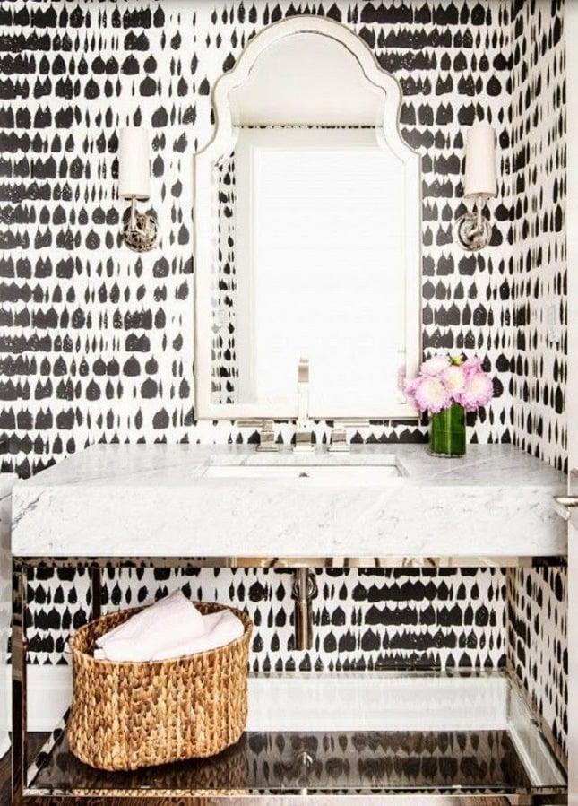 wandtapete luxus badezimmer ideen modernes bad ideen