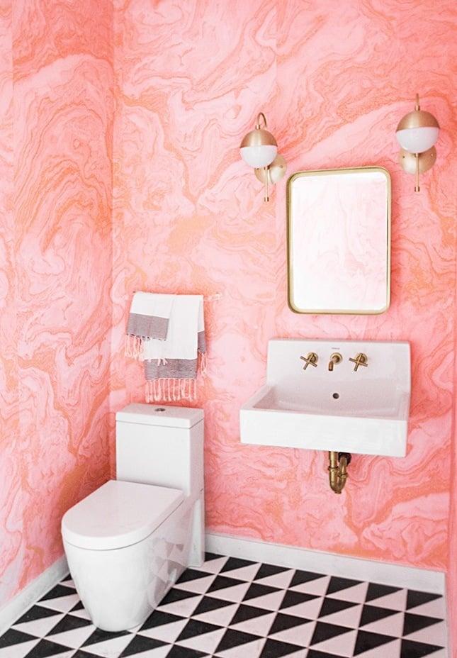 Wandtapete Rosa Moderne Badezimmer Ideen Schönes Bad Einrichten