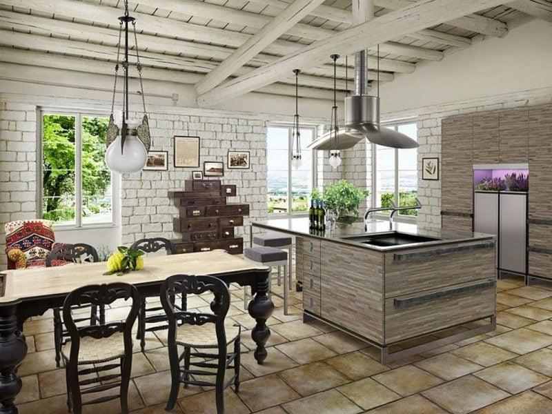 weiß braun kombination landhausstil möbel moderne einrichtung rustikale landhaus möbel