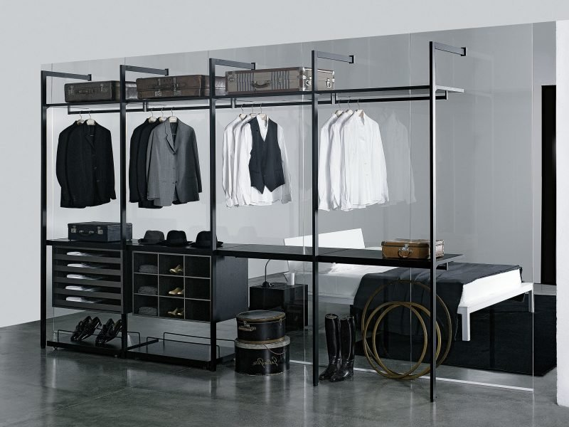 wie soll der perfekte begehbarer kleiderschrank aussehen schlafzimmer weiß schwarz schuhe regalsysteme