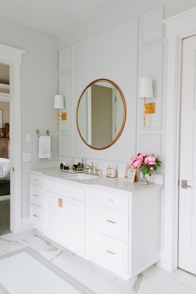 wohnaccessoires kupfer akzente badezimmer ideen weiß moderne bäder ideen