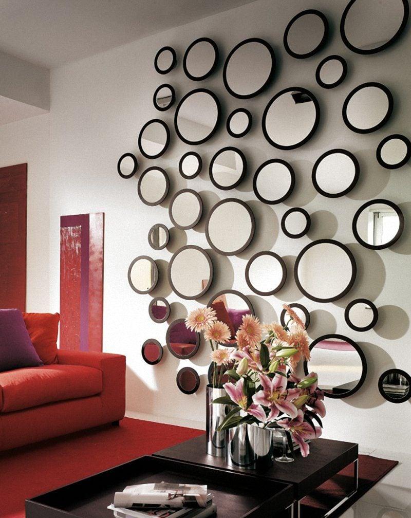 Wand dekoration glas deko ideen wohnung dekoration