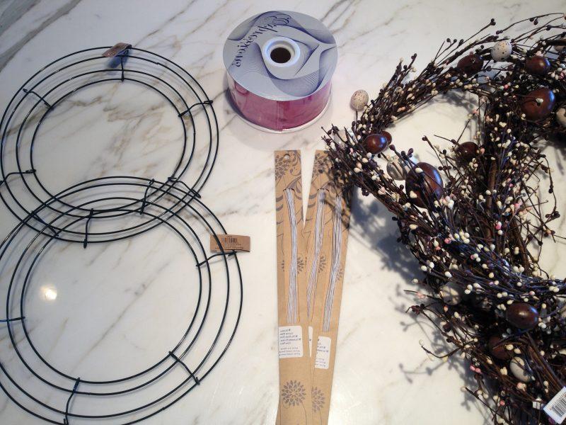 diy deko ostern osterdeko selber machen osterkranz mit hasen anleitung materialien